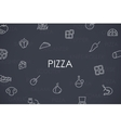 Pizza Thin Line Icons vector image
