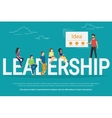 Project leadership concept of vector image vector image