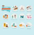puppy care and safety in your home bathroom pet vector image vector image