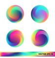 rainbow titanium swirled spheres vector image