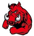 razorback mascot vector image vector image