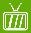 Retro tv icon green