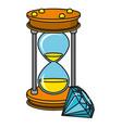 sand glass diamond cartoon vector image