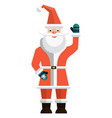 santa claus icon flat isolated vector image vector image