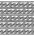 Seamless monochrome hand drawn Greek pattern on vector image vector image