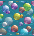 seamless pattern with colorful transparent bubbles vector image vector image