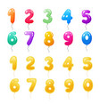 set colored golden balloons with numbers from vector image vector image