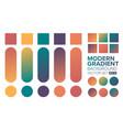 set gradient 03 vector image vector image