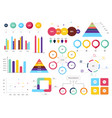 set most useful infographic elements - bar vector image