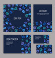 set of blue floristic elements of corporate vector image vector image