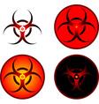 signs of bio hazard vector image vector image