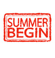 summer begin stamp text design vector image