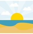 Summervacations and travel vector image