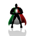 superhero with italy insignia vector image