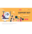 support bot robot wrench service repair concept vector image vector image