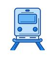 train line icon vector image vector image