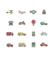 Transportation flat icons set vector image vector image