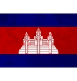 True proportions Cambodia flag with texture vector image vector image
