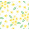 watercolor hand draw yellow plumeria vector image