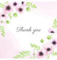 watercolor hand drawn anemone flower bouquet vector image