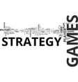 why i love strategy games text word cloud concept vector image vector image