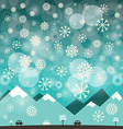 Winter Blue Background with Snowflakes of M vector image vector image