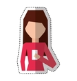 young woman with smartphone avatar character vector image vector image