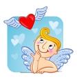 Cupid in love vector image