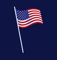 a waving flag united states america us vector image vector image