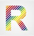 Alphabet Letter R vector image