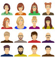 appearance of the girl in glasses a guy with a vector image vector image