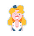 avatar sexy air hostess flat vector image
