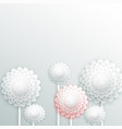 background with decorative white round vector image vector image