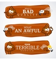 Bad quality banner set vector image vector image