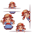 banners with sweet girl in hat vector image vector image