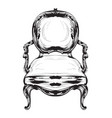 baroque chair royal style decotations vector image vector image