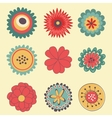 Beautiful collection of big flowers vector image