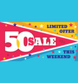 big sale concept banner template vector image vector image