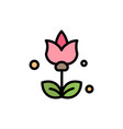 bouquet flowers present flat color icon icon vector image vector image