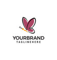 butterfly logo design concept template vector image vector image