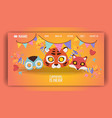 carnival mask landing page vector image