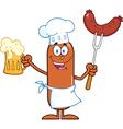 Chef Sausage Cartoon vector image vector image