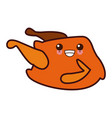 chicken food symbol kawaii cute cartoon vector image