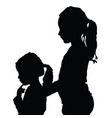 children silhouette vector image vector image