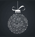christmas card with dark pattern background and vector image