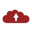 cloud upload icon vector image vector image