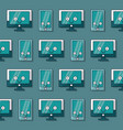 colorful background with pattern of lcd monitors vector image vector image