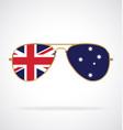 cool gold aviator sunglasses with australian flag
