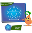Count the triangles vector image vector image