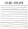 crooked uneven hand drawn lines vector image